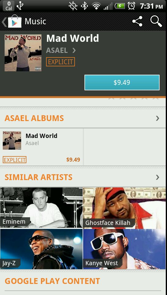 Asael on Google Play compared to Eminem, Jay-Z, Kanye West, 2pac, Nas, Big Punisher, and more!